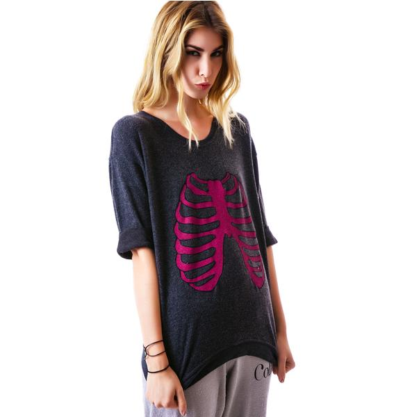 Wildfox Couture Skeleton Oversized Sweater