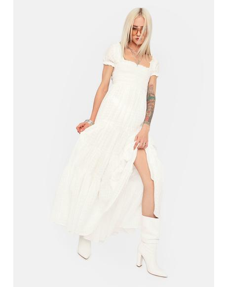 Dance If I Wanna Puff Sleeve Maxi Dress