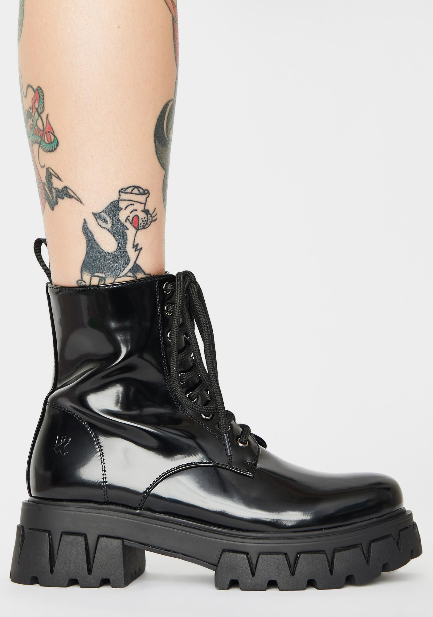 Koi Footwear Bright Shadow Patent Boots