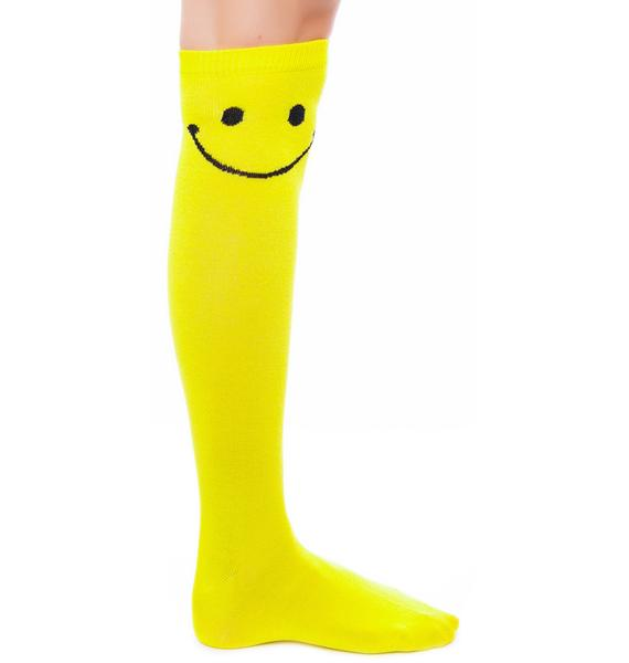 U Make Me Happy Knee Socks
