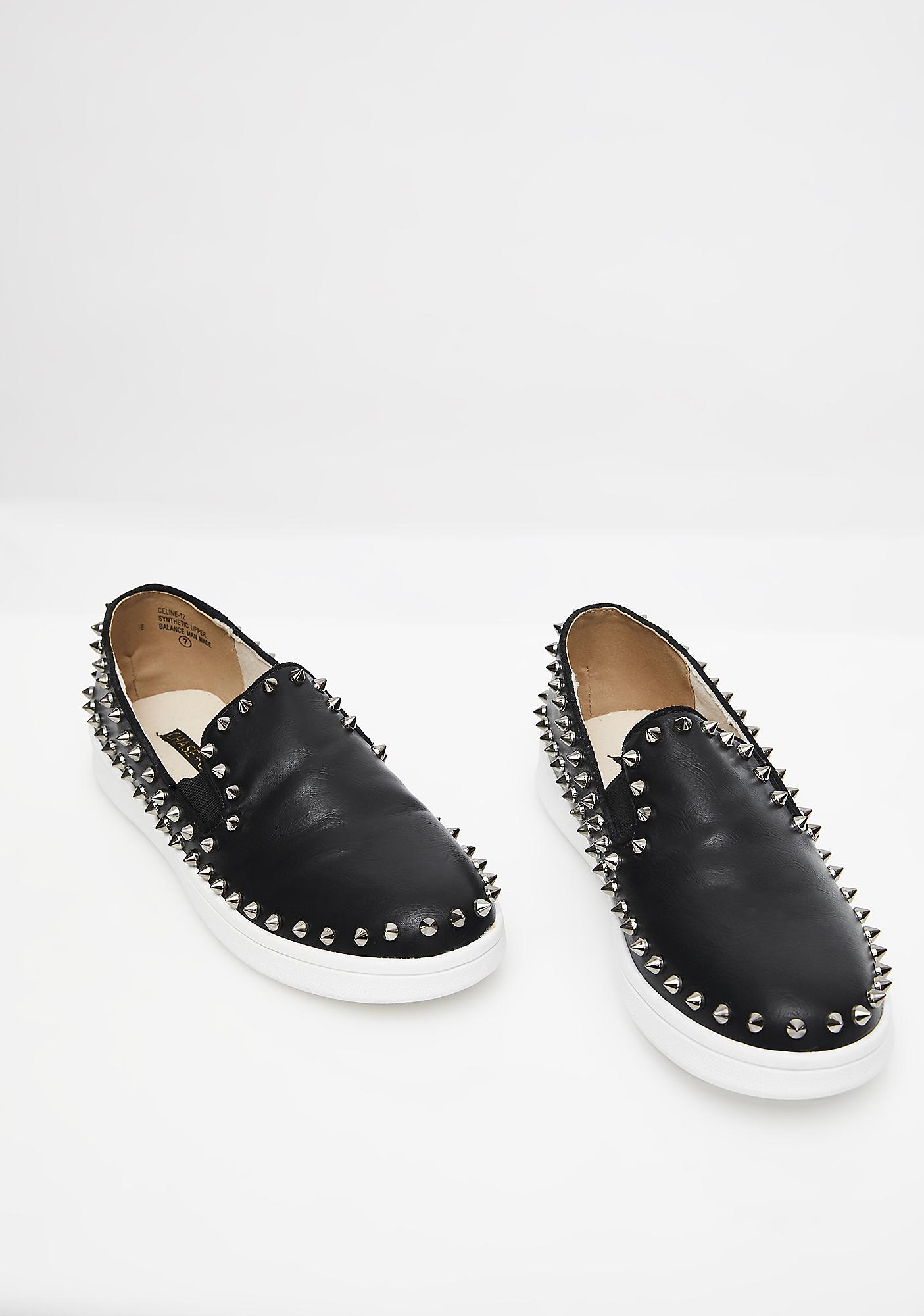 Dark Rock It Out Slip-On Sneakers