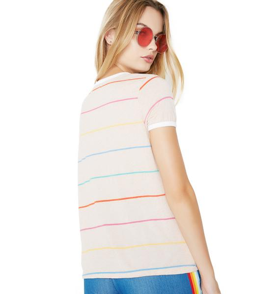 Wildfox Couture Tennis Stripe Johnny Ringer Tee