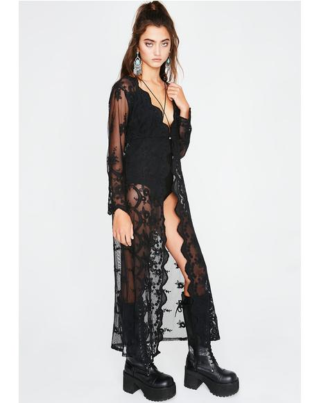 Set The Mood Lace Kimono