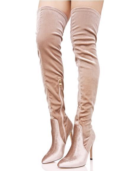 Sweet Arabella Thigh-High Boots
