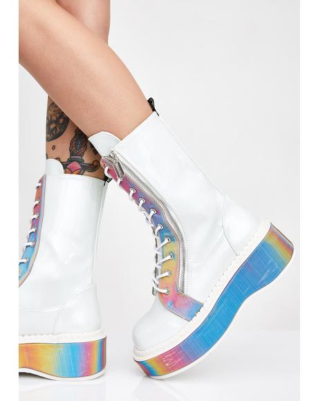 Electric Fusion Reflective Platform Boots