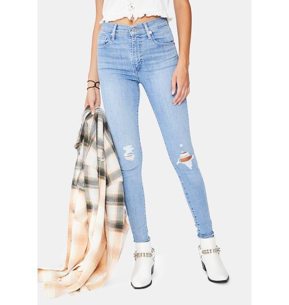 Levis Galaxy Far Away Mile High Super Skinny Jeans