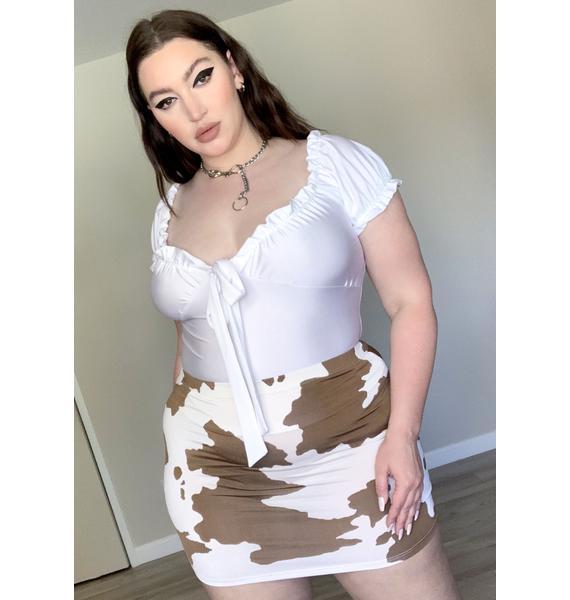 Mz. Cocoa Legend Dairy Mini Skirt