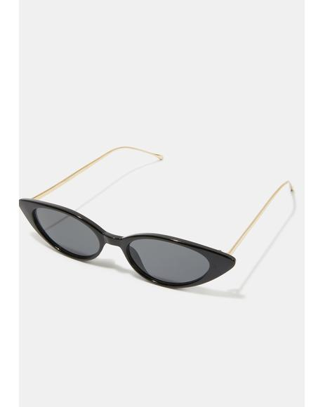Black Smoke Isla Cat-Eye Sunglasses