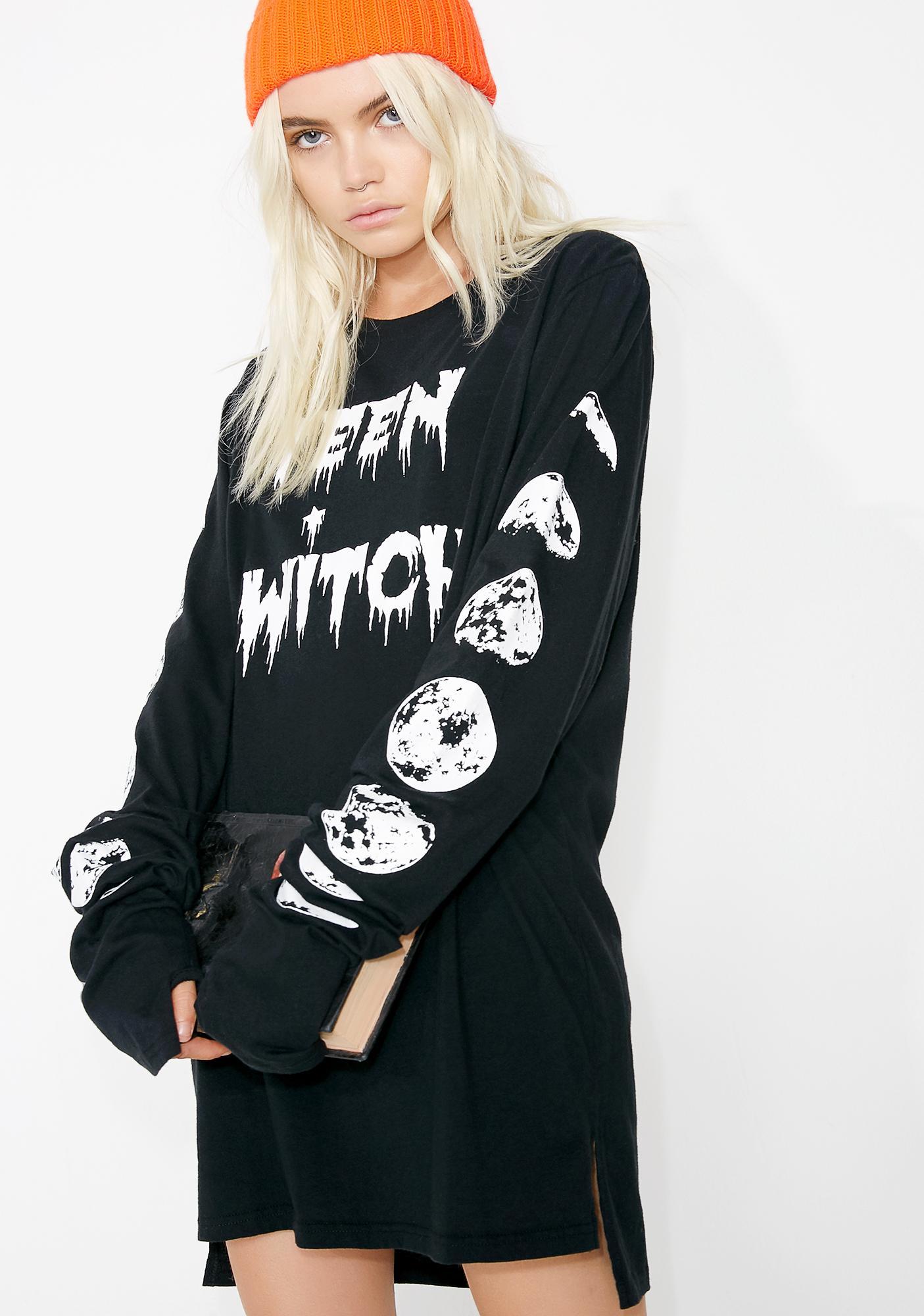 Dolls Kill Teen Witch Long Sleeve Tee
