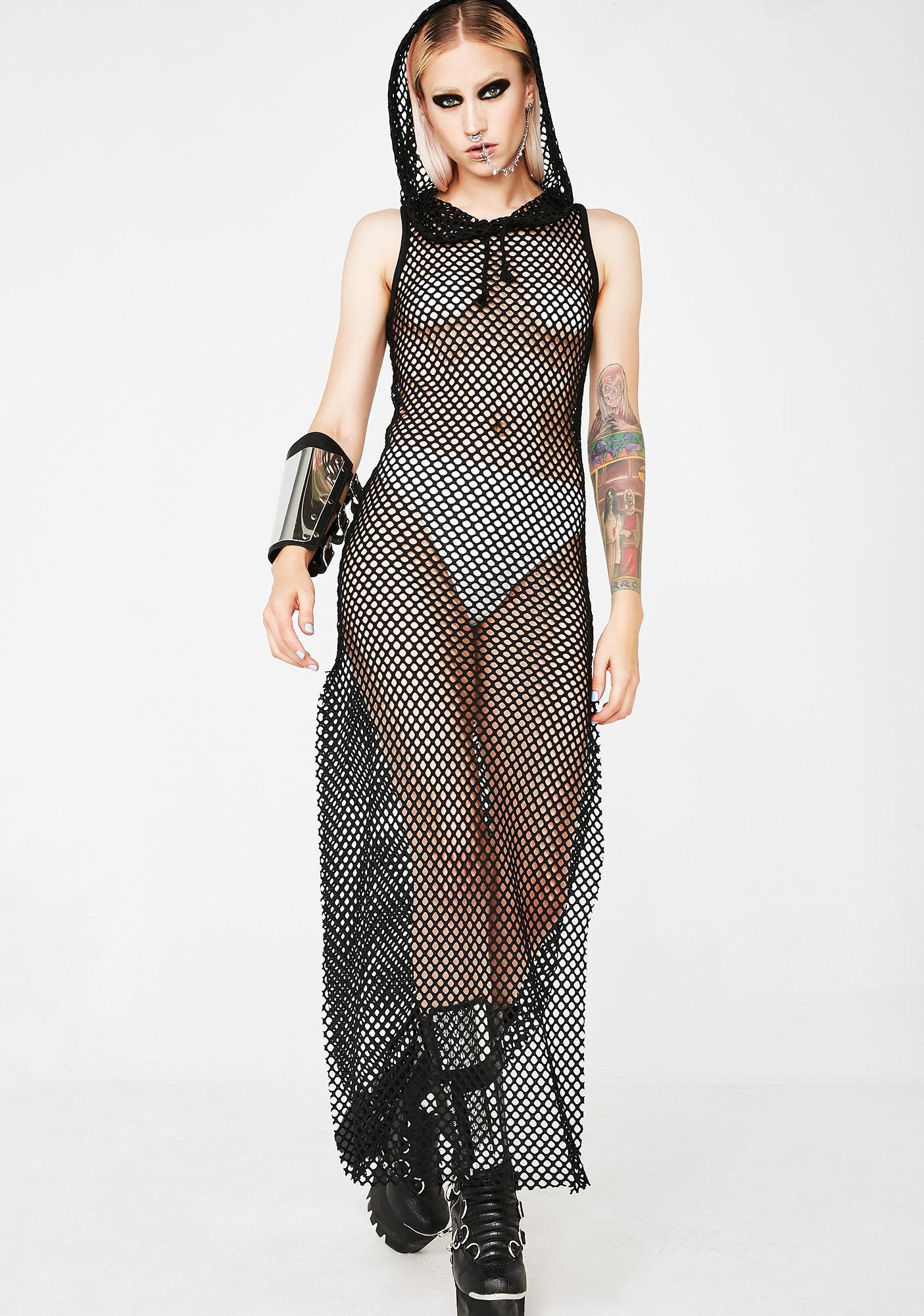 Club Exx Empress Furiosa Fishnet Dress