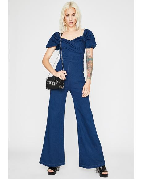 Always Groovin' Denim Jumpsuit