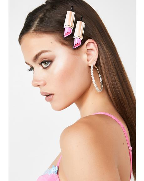 Viva La Tease Lipstick Hair Pins