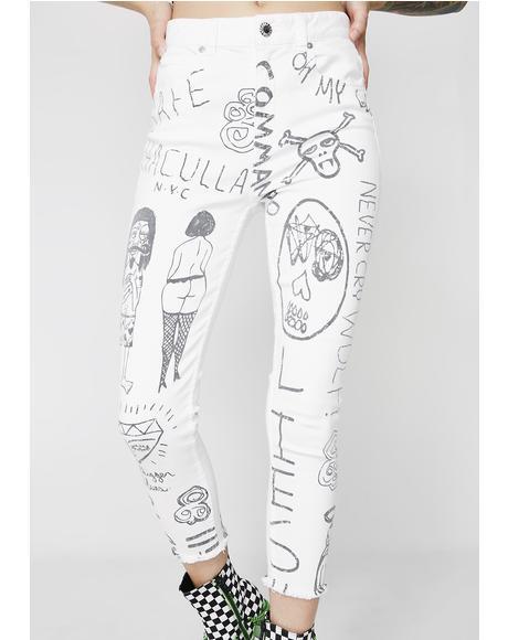 Mindful Doodles Jeans