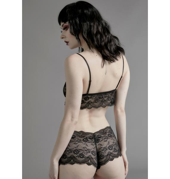 Widow Horribly Ever After Lace Boyshorts
