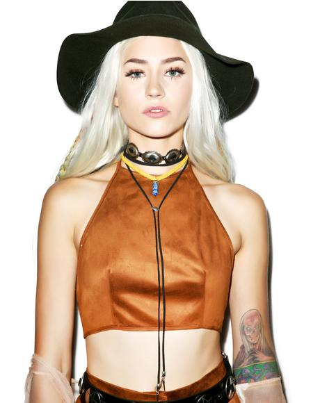 Suede It Up Crop Top