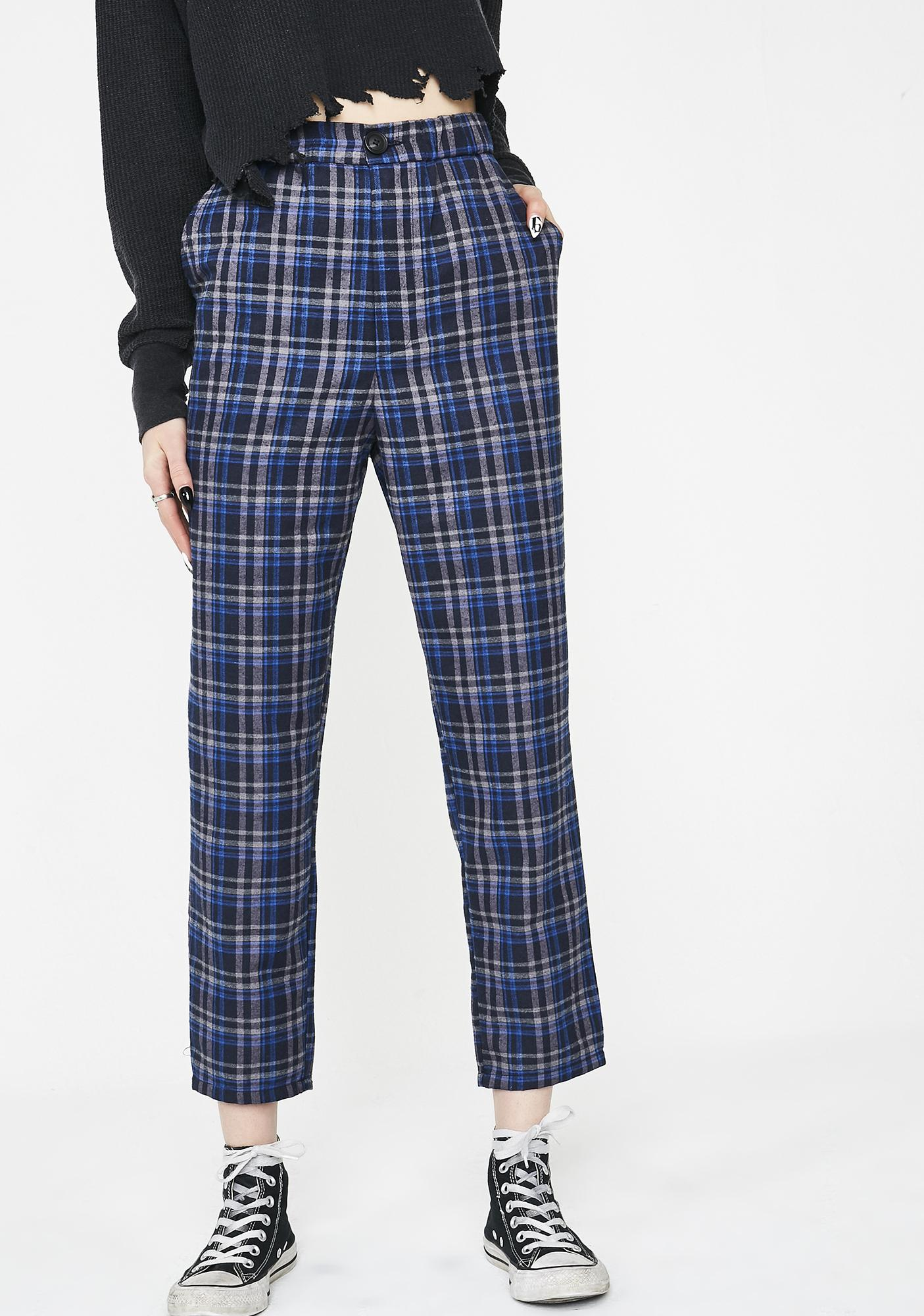Royal Babe Takeover Plaid Trousers