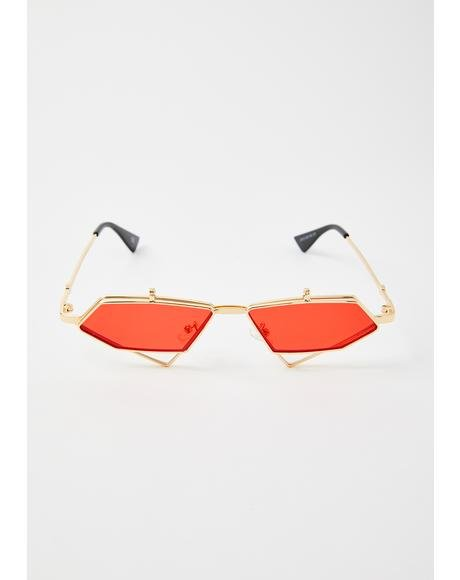 Fire Diamond Daze Flip-Up Sunglasses