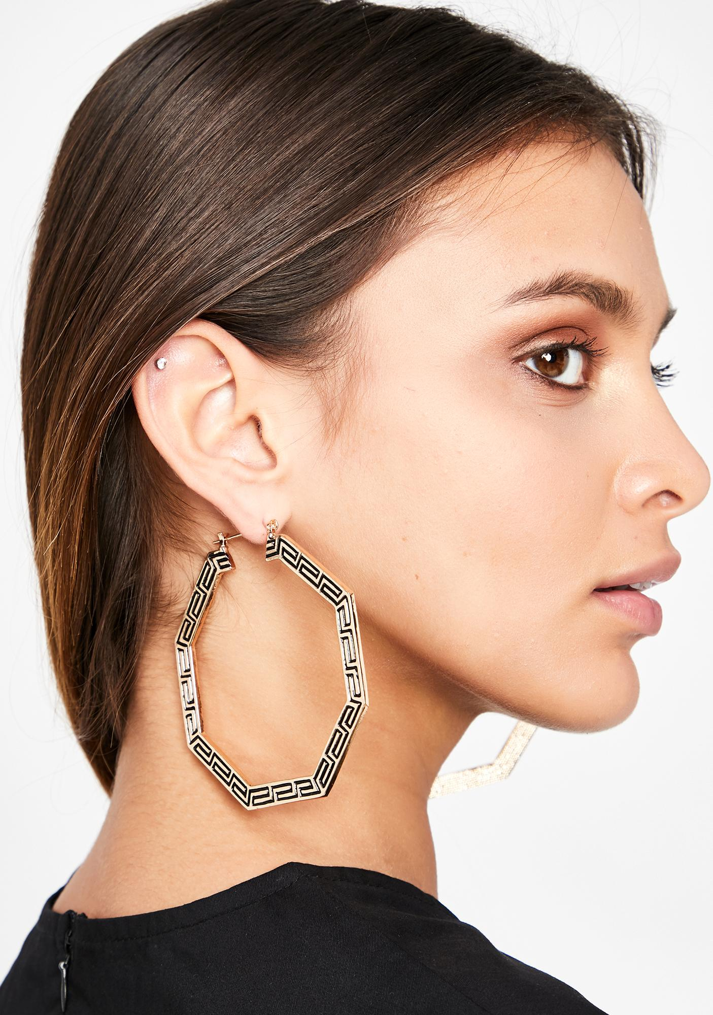 Beauty In Ruins Hoop Earrings