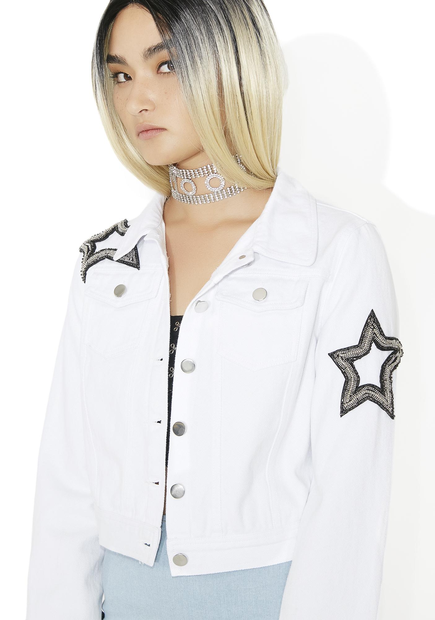 Star White Denim Jacket
