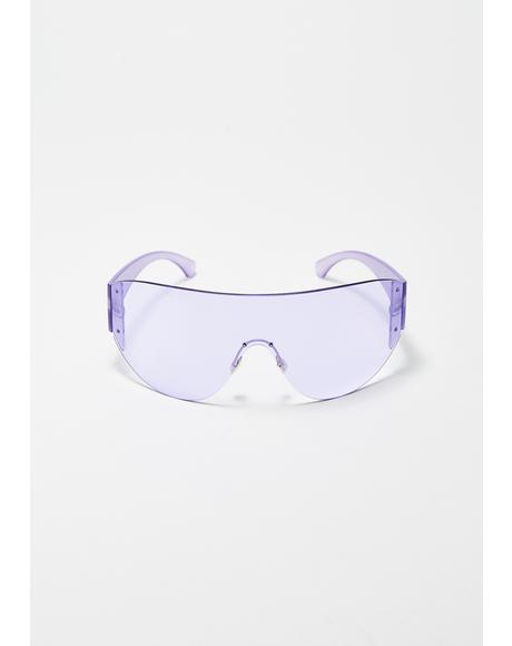 Lilac Outerlimitz Shield Sunglasses