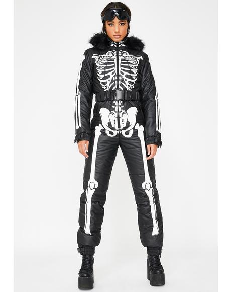 Cold Prey Skeleton Snowsuit