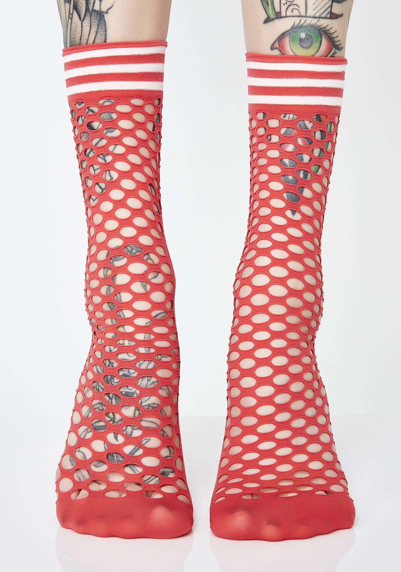 You Bettah Werk Fishnet Socks