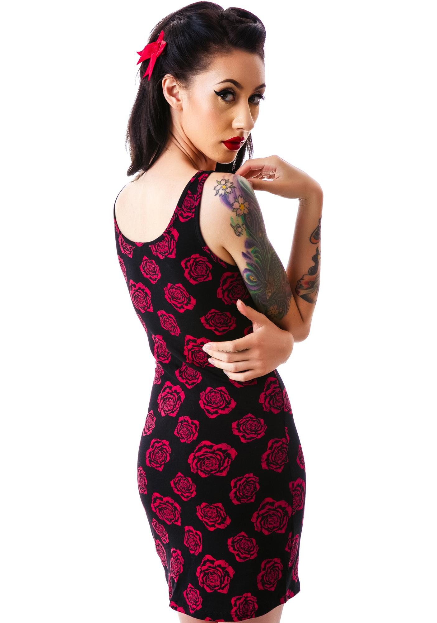 Sourpuss Clothing Omni Roses Tank Dress