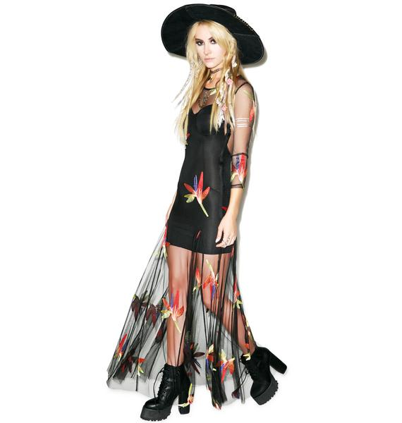 For Love & Lemons Birds Of Paradise Maxi Dress