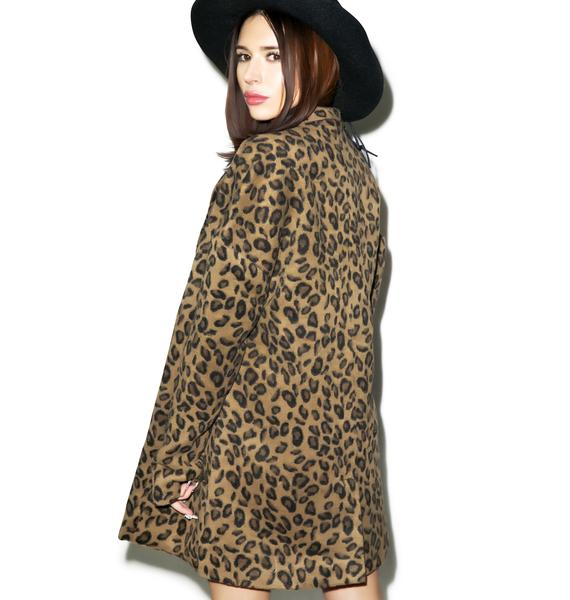 Somedays Lovin Dangers Leopard Coat