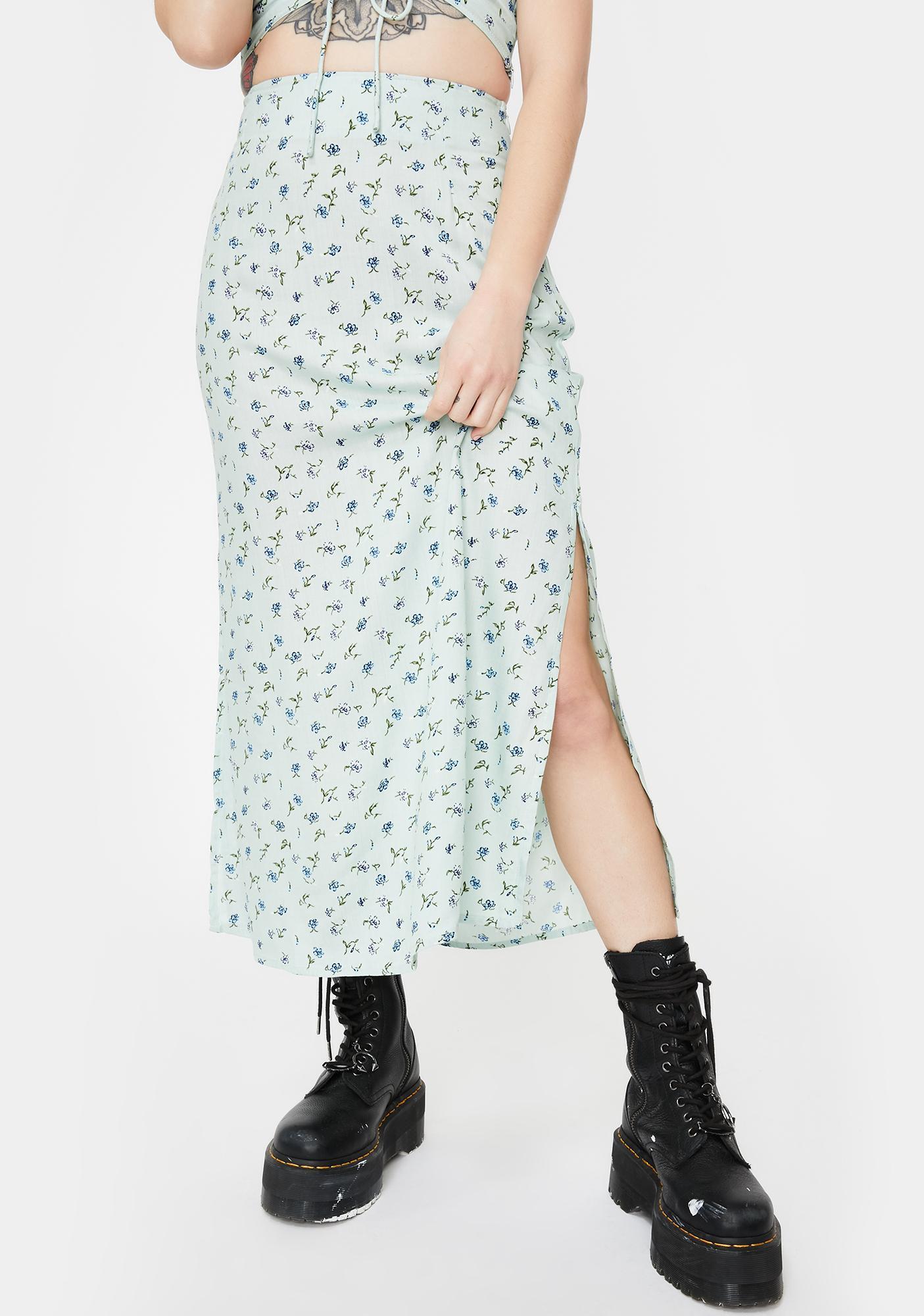 Motel Pretty Petal Tindra Midi Skirt