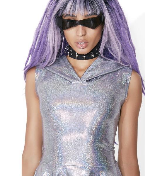 Club Exx Mercury Rising Hooded Skater Dress