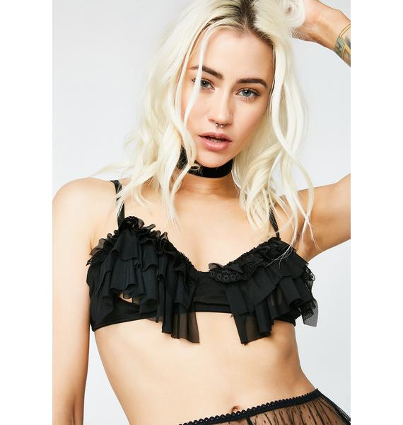 Next to Nothing Take A Peek Ruffle Bra