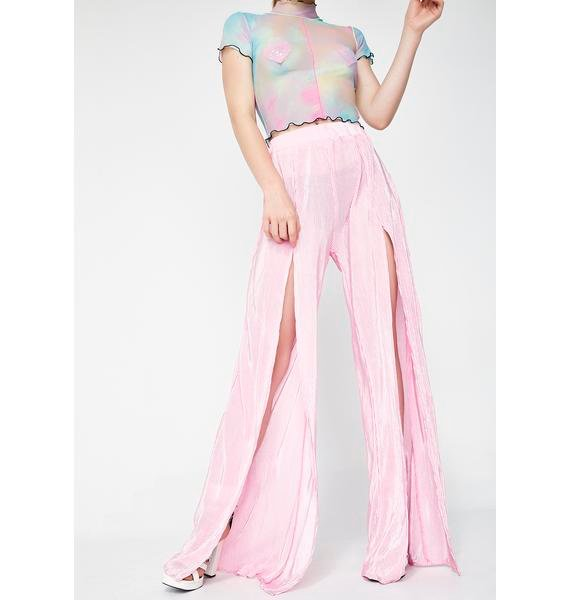 Quarts Lotus Flower Bomb Slit Pants