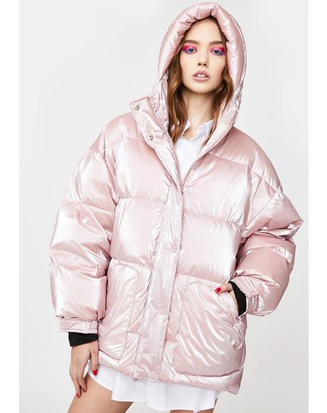 Cortina Metallic Puffer Jacket