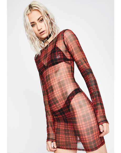 Filth N' Fury Plaid Dress