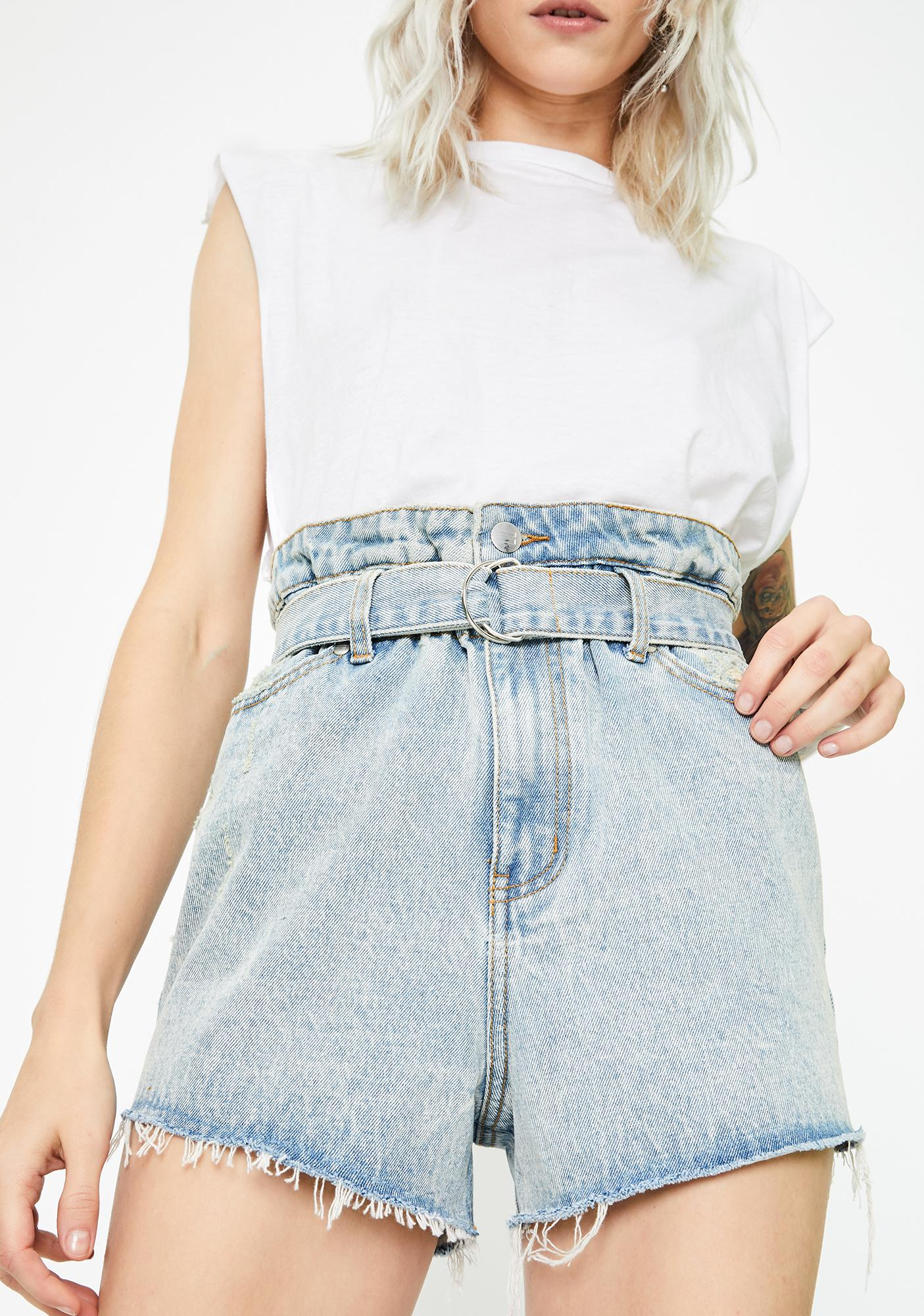 Twiin Cinch Denim Shorts