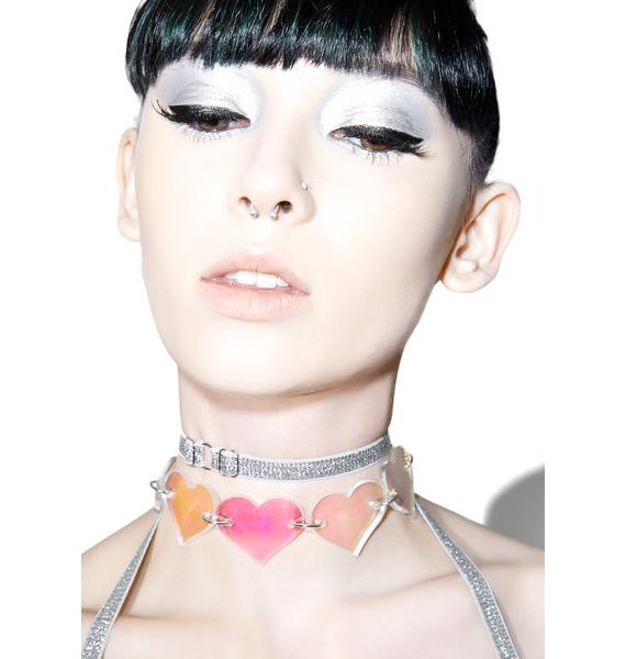 Marina Fini Holographic Heart Breaker Choker