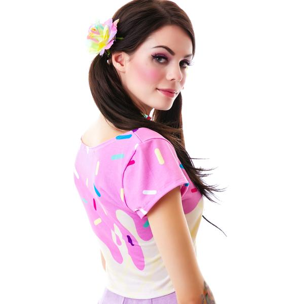 Japan L.A. Japan L.A. Melty Ice Cream Short Sleeve Crop Top