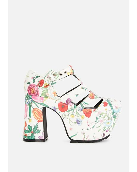 Bliss Watch Me Bloom Platform Heels