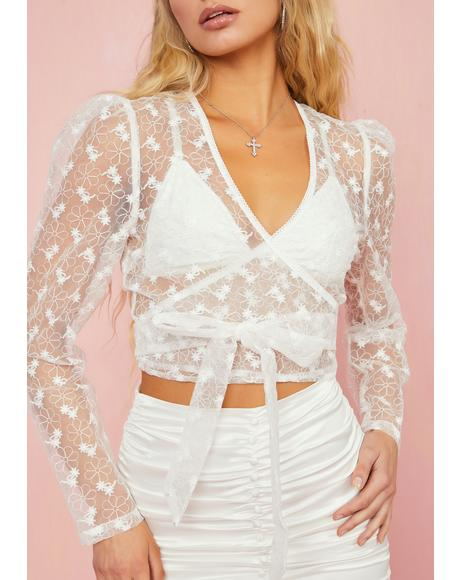 Lost In Paradise Wrap Top