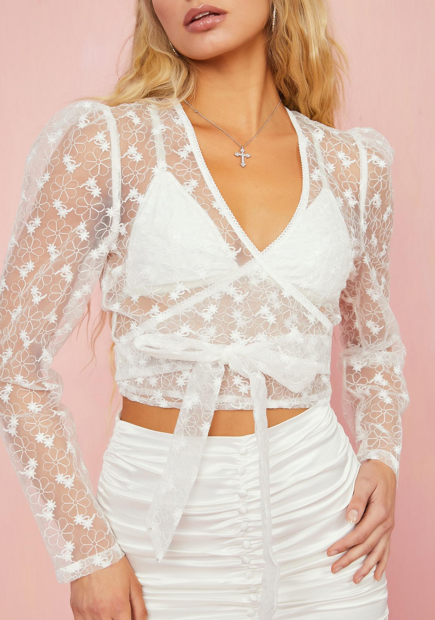 Sugar Thrillz Lost In Paradise Wrap Top