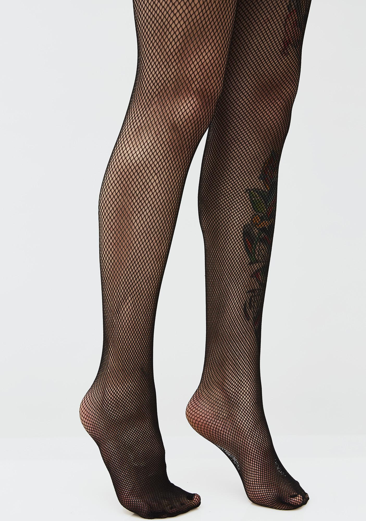 5255b932e Micro Fishnet Crotchless Tights | Dolls Kill