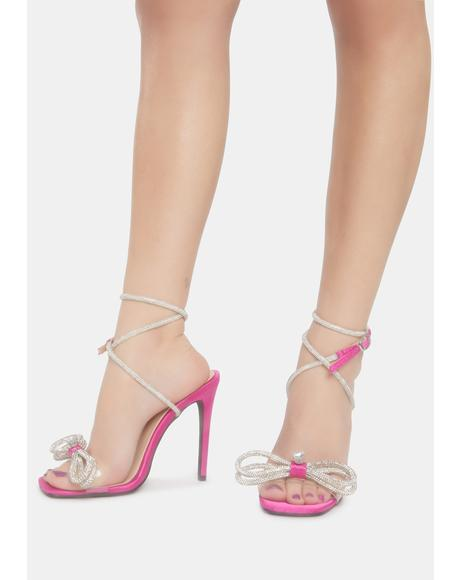 Pink Liz Glam Bow Stiletto Heel
