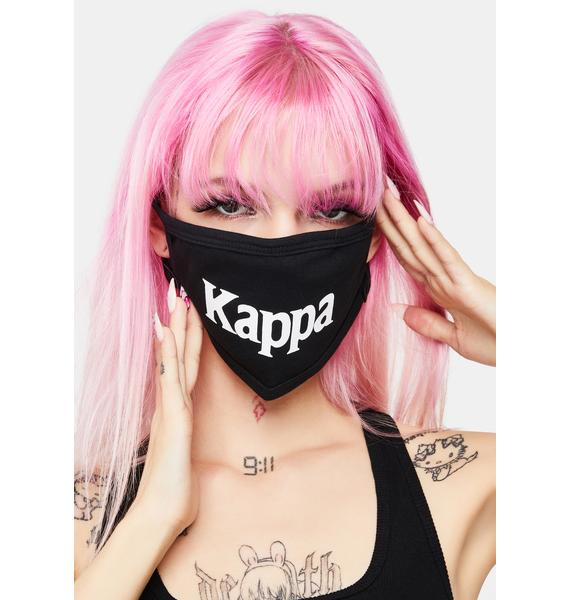 Kappa Black Authentic Wilk Face Mask