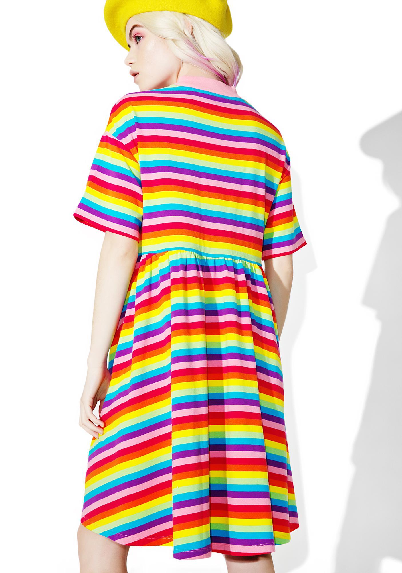 Lazy Oaf Rainbow Sally Sack Dress