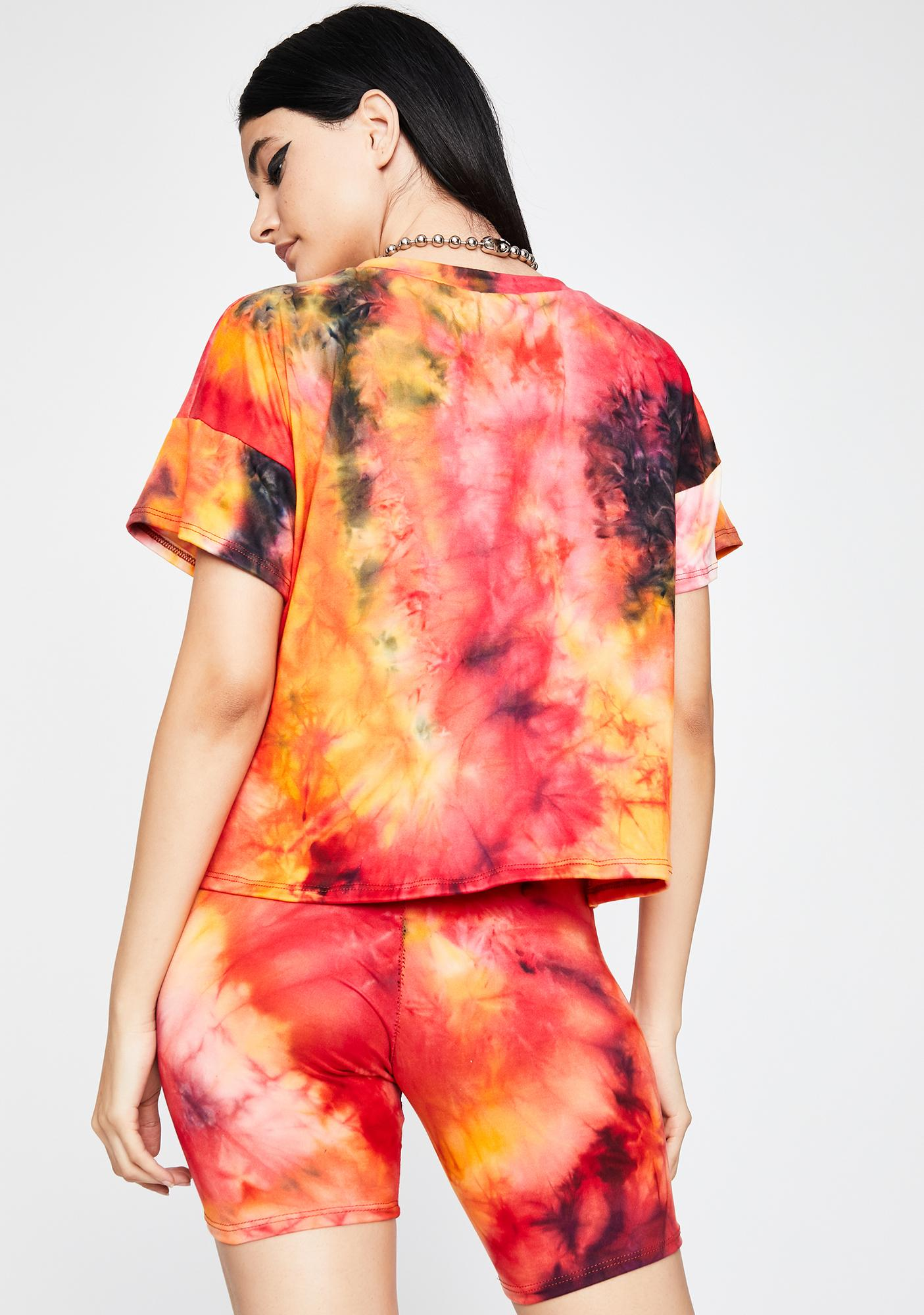 Firecracker Tie Dye Shorts Set