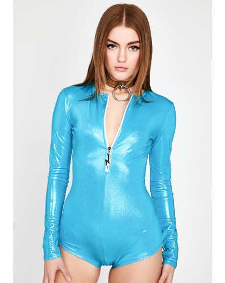Aqua Drop The Bass Vinyl Romper