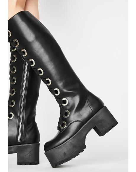 Face The Music Lace Up Boots