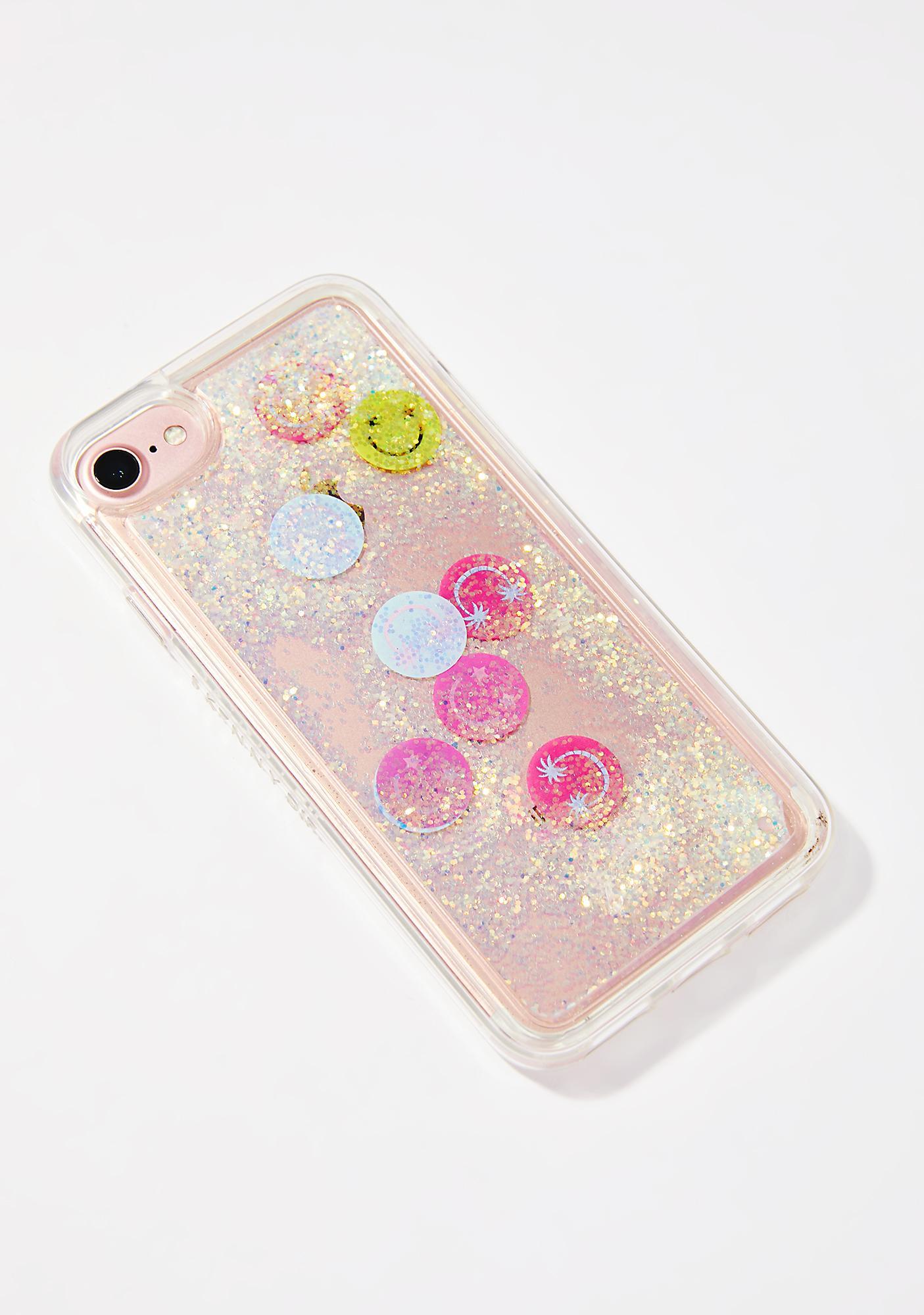 Skinnydip Smiley Glitter iPhone Case