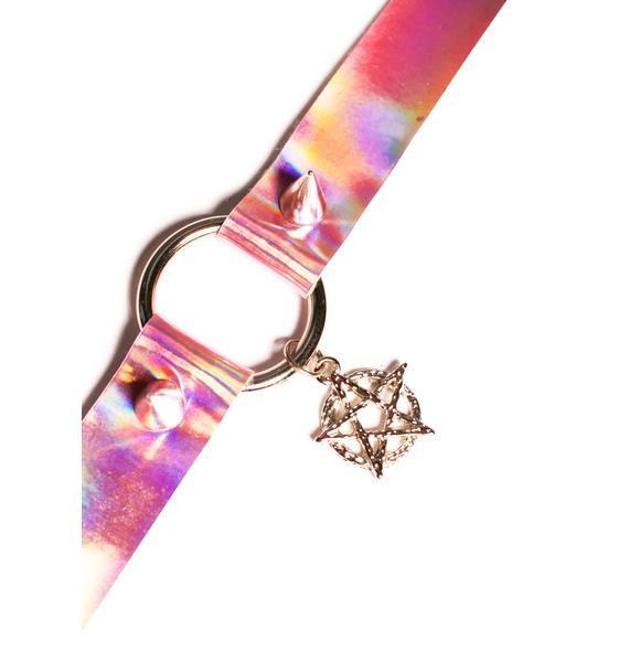 Hologram Pentagram Choker